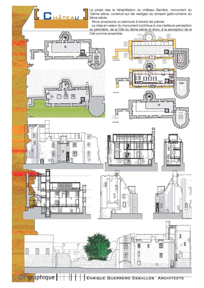 projet pour la r habilitation du ch teau barri re p rigueux guerrero architecte s rl luxembourg. Black Bedroom Furniture Sets. Home Design Ideas