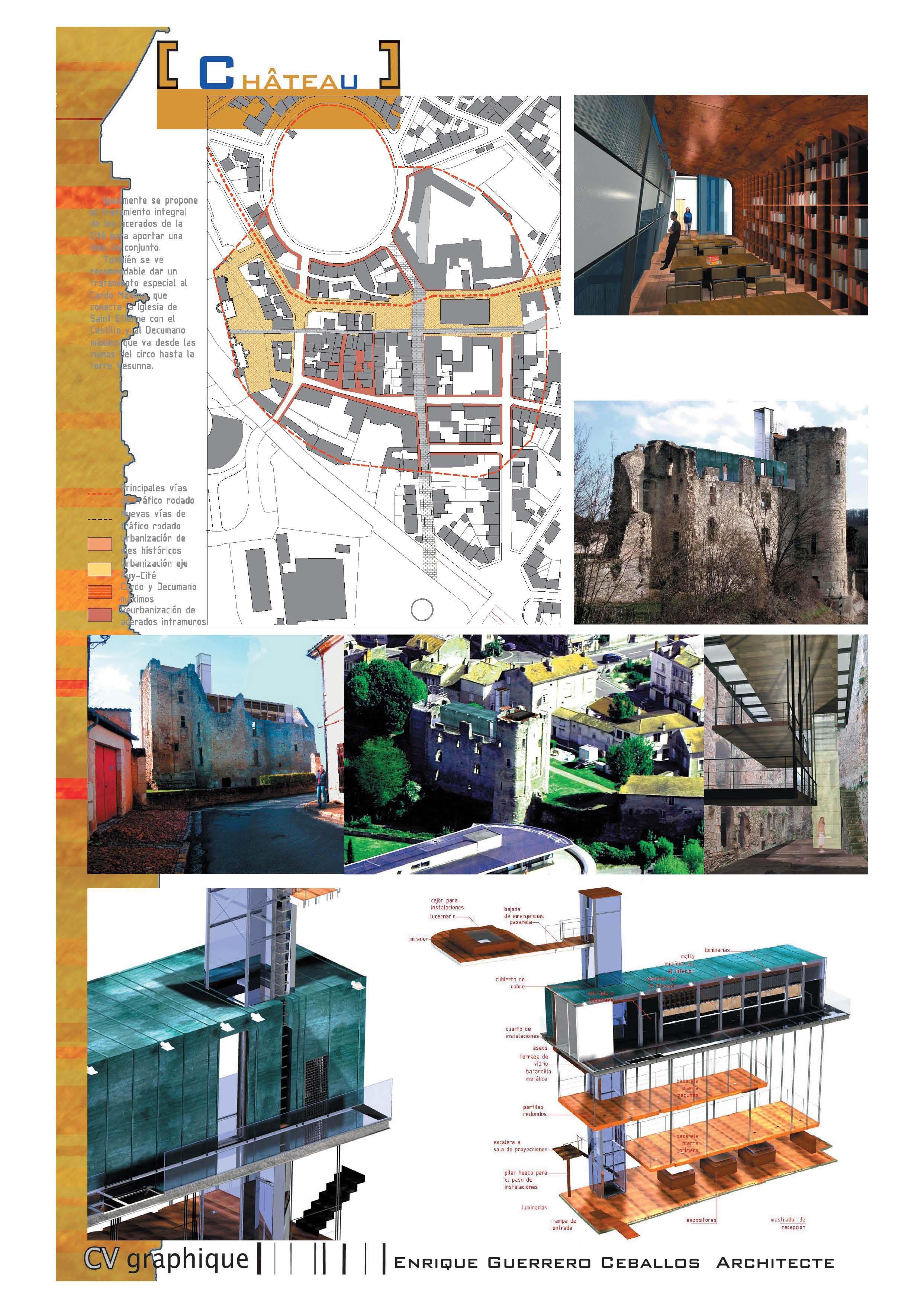 projet pour la r habilitation du ch teau barri re p rigueux guerrero architecte. Black Bedroom Furniture Sets. Home Design Ideas